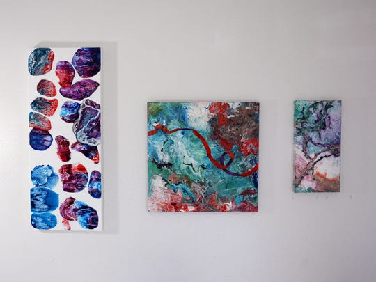 The work of artist Jennifer Hendry, whose work will be on display at the next Wine, Art, and Music event at 1800 Prime.