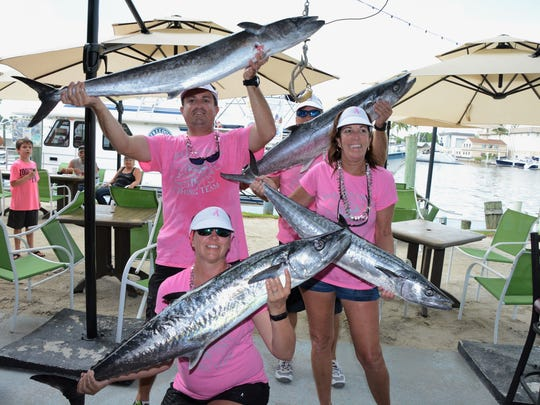 Reel Anarchy took 1st place in the kingfish category in last year's tournament. Celebrating are Mike Minia, Alicia Lipscomb, Floyd Miller and Deanna Foster.