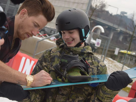 Hunter's Make A Wish was to meet with Shaun White,