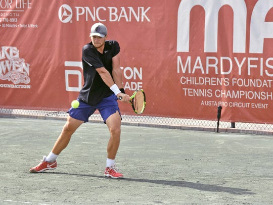 Strong Kirchheimer plays Friday at the Mardy Fish Tennis