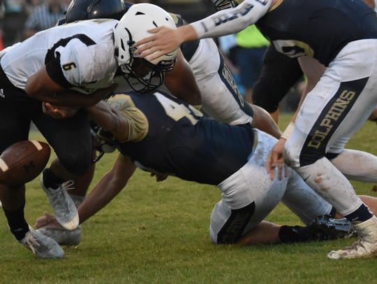 Gulf Breeze linebacker forces fumble in Friday night's