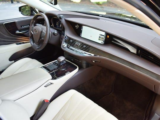 Lexus LS parchment brown passenger view.
