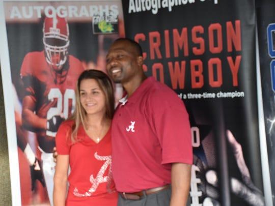 Former Alabama star running back Sherman Williams visits