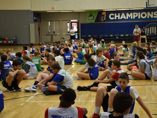 The UWF Shoot For The Stars youth basketball camp had