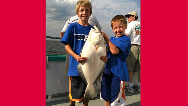 Jac and Mac Colantino of Middletown caught this 6.5 pound fluke aboard the Atlantic Star.
