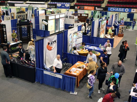 Attendees browse the home improvement booths at the 35th Annual Spring Westchester County Home Show at the Westchester County Center in White Plains, April 23, 2016. The show features a diverse array of home products and services, by local, state and national vendors. This year, the Fall Home Show will be held Nov. 4-5.