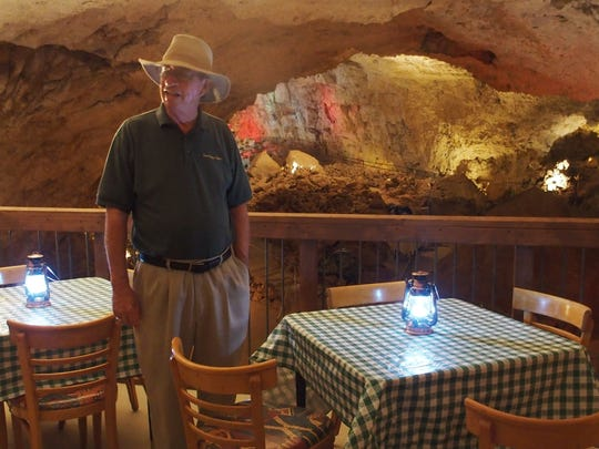Grand Canyon Caverns owner John McEnulty was dining in Disneyland's atmospheric Blue Bayou Restaurant when he came up with the idea of building an in-cave eatery.
