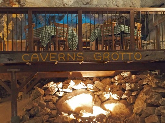 The dining platform for Caverns Grotto will hold four tables as well as salad and dessert bars.