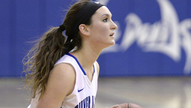Silver Lake College junior forward Danelle Buck, a former Valders High School standout, had 16 rebounds and eight points in the Lakers' victory over Mount Mary University on Feb. 1.