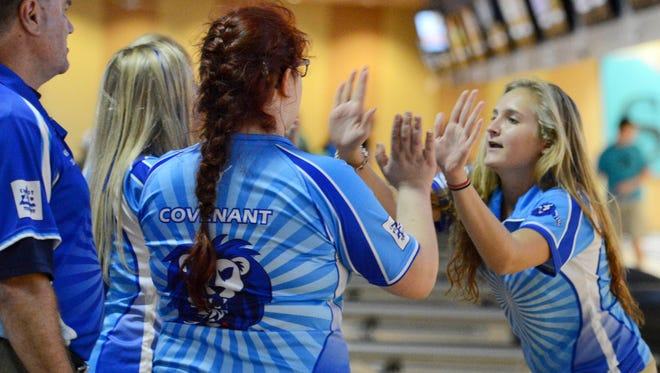 The Covenant Christian girls bowling team produced a 3.277 GPA and helped the school place first in Class 2A among FHSAA Academic Team Champions.