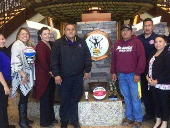 Mescalero Apache Tribal officials and the Inn of the