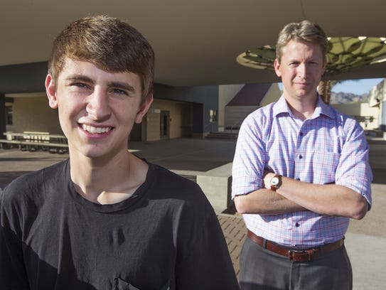 Jake Sarver, left, and his Phoenix Country Day School