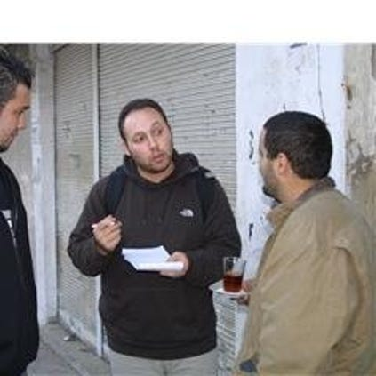 Steven Sotloff (center) has been held captive by the Islamic State for more than a year.