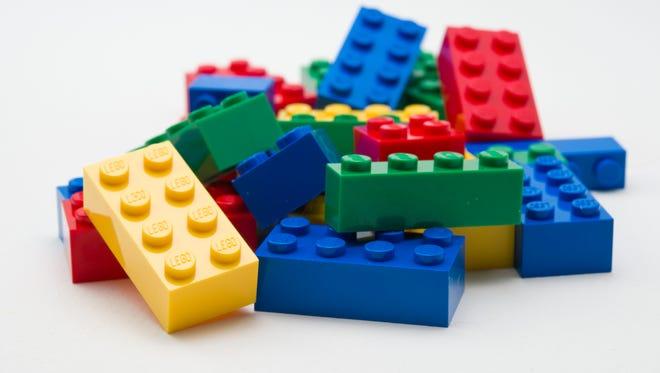 A pile of Lego blocks.