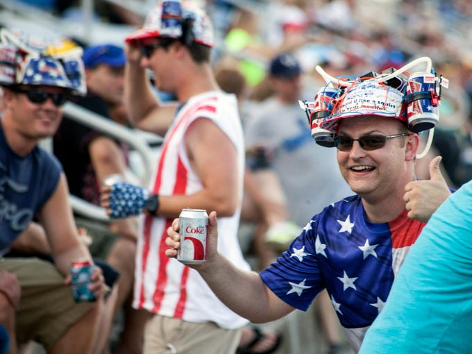 Patriotism, NASCAR-loyalty, and open beverages of all varieties were a common theme throughout the track. June 28, 2014