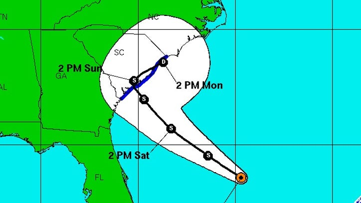 Tropical Depression Two formed late Friday in the Atlantic.