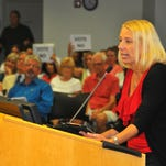 Lexi Wright, president of Space Coast Pride, speaks during a six-hour Brevard County school board meeting. At the Tuesday meeting, the board passed a LGBT non-discrimination policy by a 3-2 vote.
