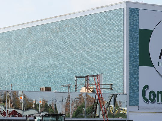 Construction continues on the new Avita wing at the Richland Mall.