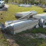 The Vernon Parish Sheriff's Office is investigating damage at a cemetery that extensively damaged a vault, exposing the casket to weather conditions, according to a release.
