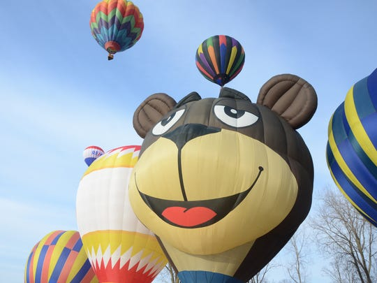 Seven balloons, including Sugar Bear, launched on Saturday