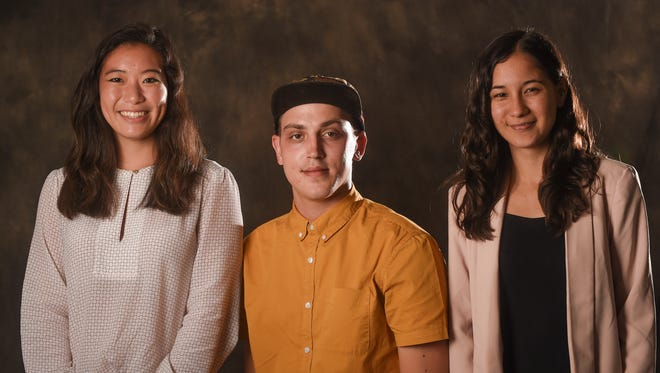 Three college students worked as interns this summer at the Pacific Daily News. From left are Allyson Chiu, who attends Northwestern University, Kyle Twardowski, who attends the University of Guam, and Samantha Barnett, who attends Bennington College.