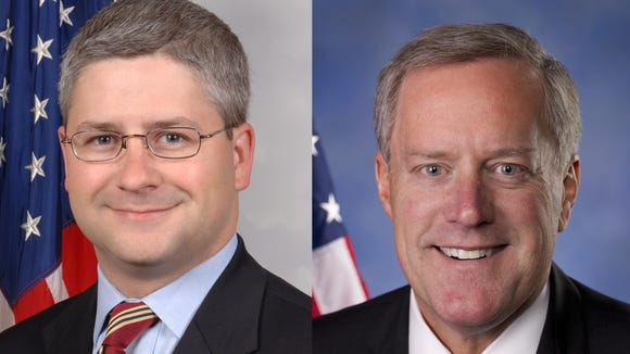 U.S. Reps. Patrick McHenry and Mark Meadows