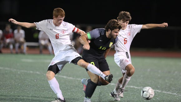 Tappan Zee's Colin Moriarty, left, and Stephen Francabandera