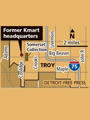 Map of the former Kmart headquarters.