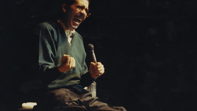 Comedian and Peoria native Richard Pryor faces an audience in Constitution Hall in Washington, D. C. on New Year's Eve 1992.