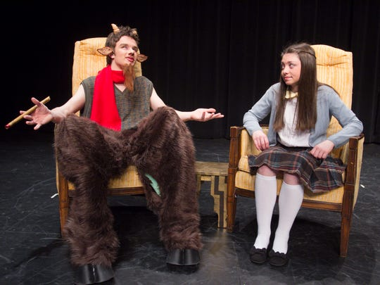 Rehearsing for the Howell High School production of