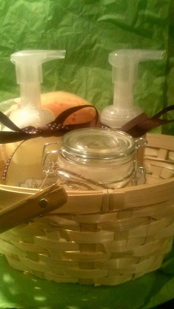 The Caring Crunchy created these three items - body wash, face wash and lotion - with my allergies and skin needs in mind.