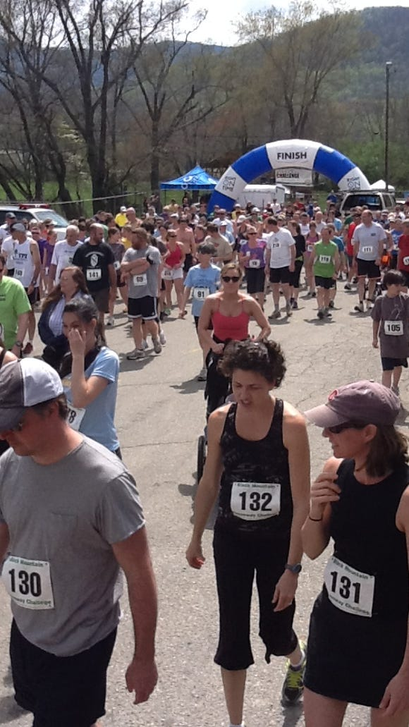Runners get ready for the Black Mountain Greenway Challenge 5K/10K. The race is April 11 in Black Mountain.