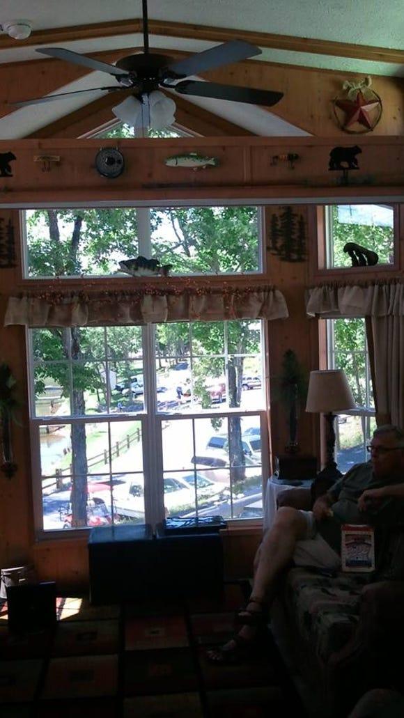 Inside Judith Johnson's tiny cabin home in Moneta next