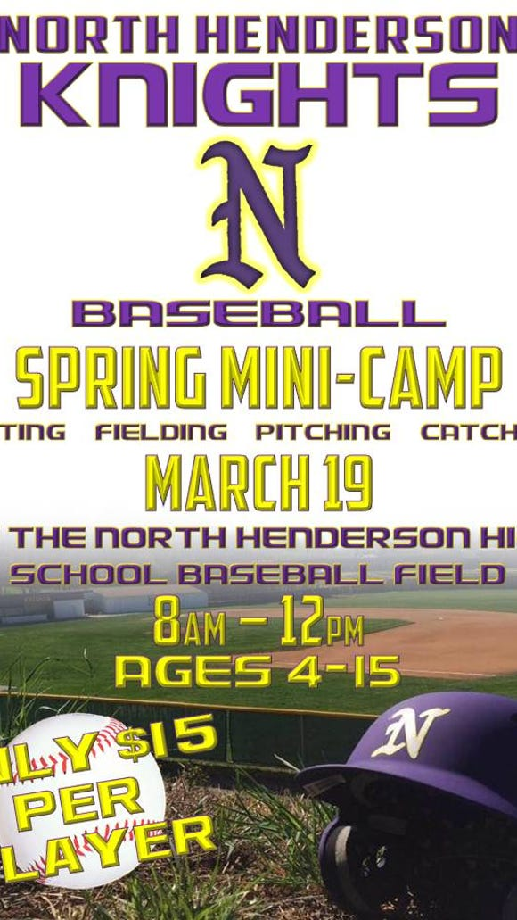 North Henderson baseball will host a spring mini-camp