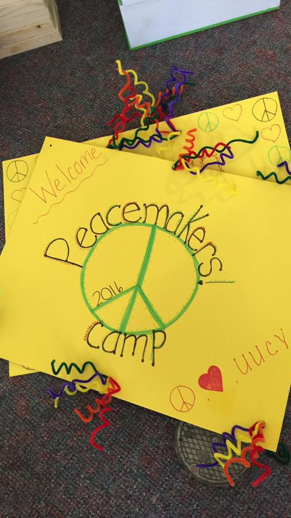 Unitarian Universalist Congregation of York recently held a Peacemakers Camp for the second year.