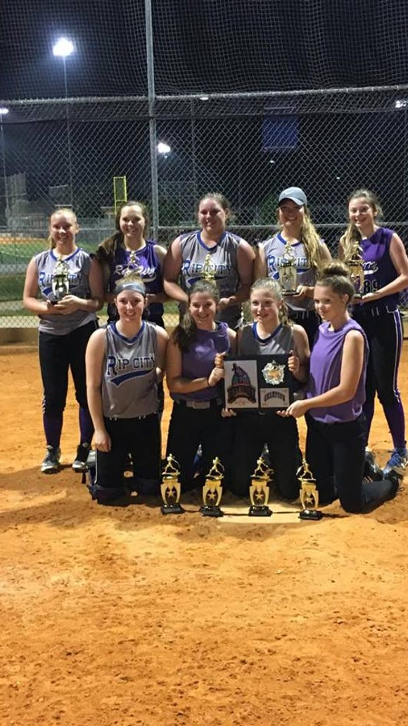 The WNC Rip City 14 and under softball team won the Top Gun tournament last weekend in Charlotte, placing first out of 18 teams.