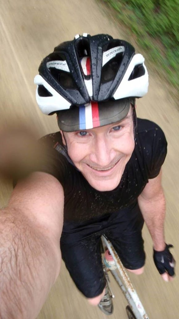 John McNeill started his bicycle-riding streak on Jan. 1, 2013.