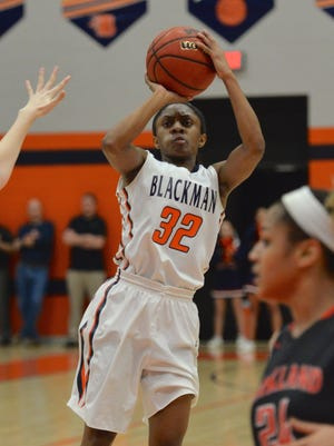 Blackman senior Crystal Dangerfield scored a career-high 38 points in Wednesday's 68-55 win over Smyrna.