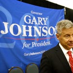 John Raoux/APLibertarian presidential candidate Gary Johnson speaks to supporters and delegates May 27 at the National Libertarian Party Convention, in Orlando, Fla. Libertarian presidential candidate Gary Johnson speaks to supporters and delegates May 27 at the National Libertarian Party Convention, in Orlando, Fla.