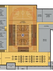 Proposed renovations to the gymnasium in the Mosinee