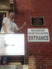 Gary Craig checks the Rochester Club off his list.