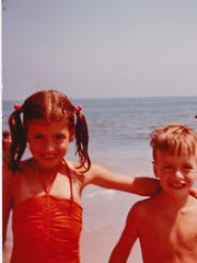 Siblings Cindy and Greg Stowell in this family photograph taken in 1982 are seen enjoying the beach at Assateague Island National Seashore in Virginia.