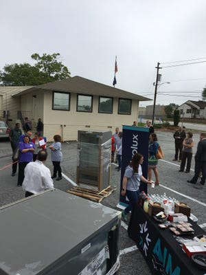 Electrolux delivered nearly 50 kitchen appliances to the AIM parking lot on Wednesday, a gift valued at $160,000 to help area charities.