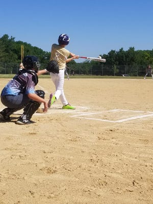 Jack Wheelwright doubles down the left field line versus the Midwest Gamblers.