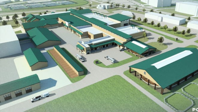 Artist's renderings illustrate plans fo r the new Helen and Arthur E. Johnson Family Equine Hospital at Colorado State University.