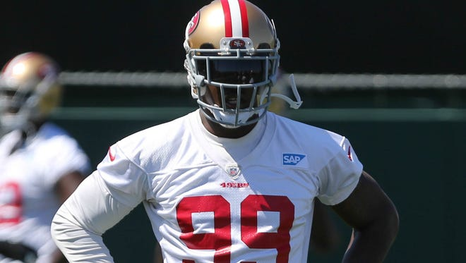OLB Aldon Smith has been the 49ers' top sack man since being drafted in 2011.