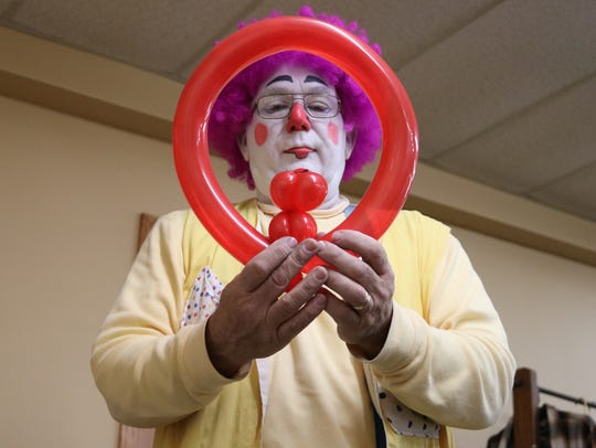 Barney the Clown, played by Steve Karr, of Pemberville,