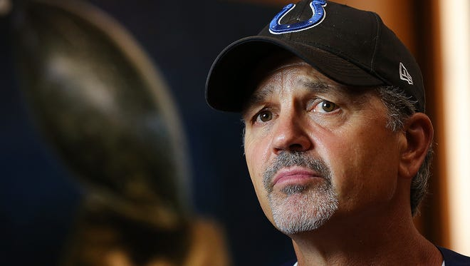 'Look, we all know what we signed up for.' Colts coach Chuck Pagano knows the stakes are high this season