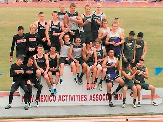 The team of Eddie Misquez, Brandon Chavez, Chad Fowler and Jeremiah Burke won the 800-meter relay state crown for the Silver High Fighting Colts.