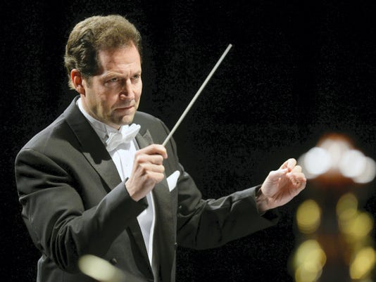Lawrence Golan directed 77 musicians at the first concert of last year's season.